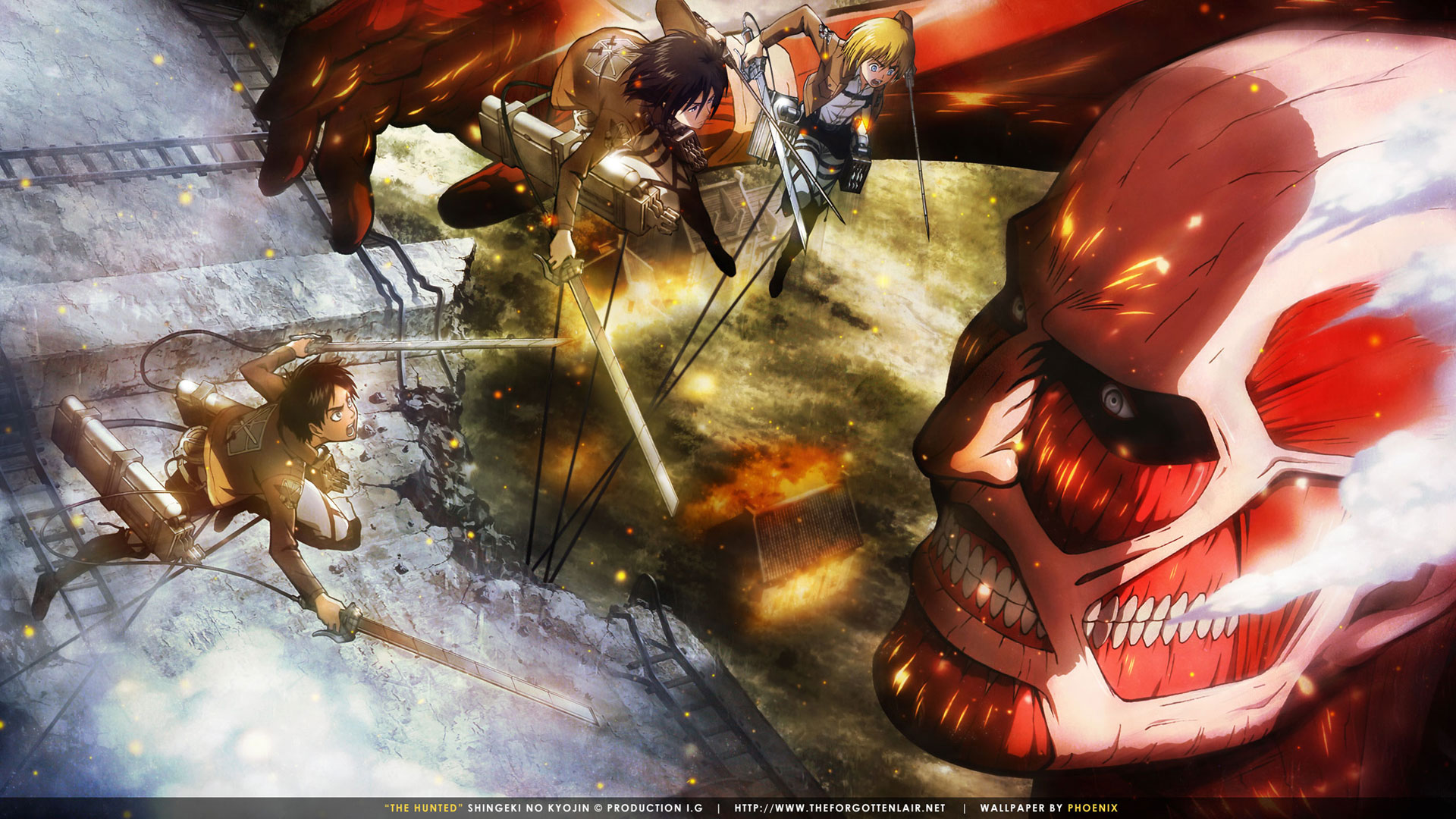 The Forgotten Lair | Attack on Titan Desktop Wallpapers